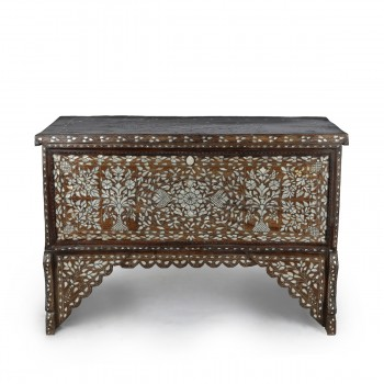 Breathtaking Wooden and Mother of Pearl Console