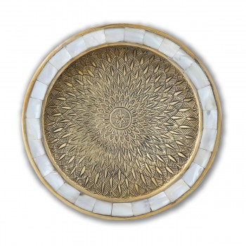 Brass Decorative Attractive Bowl  Mother of Pearl