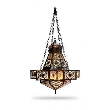 Bewitching Arabic-Style Syrian-Design Brass Ceiling Pendant