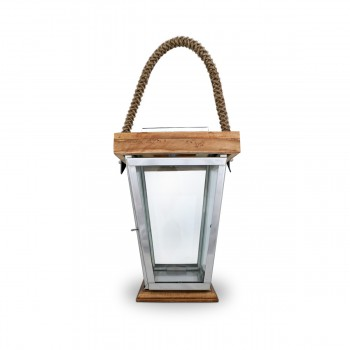 Large Candle Lantern With Rope