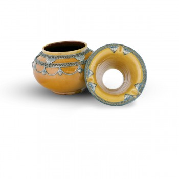 Moroccan Ashtray With Top Brass Decorations
