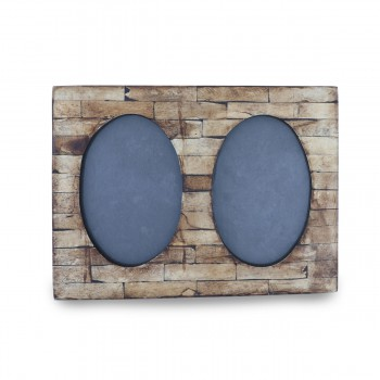 Charming Wooden Double Picture Frame