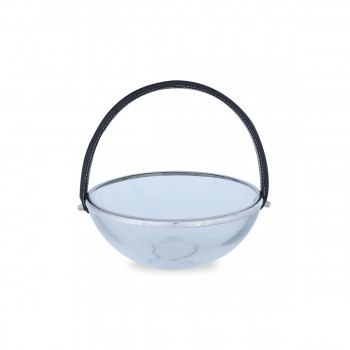 Glass Serving Bowl with Handle