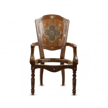 Mosaic Wood With Mother of Pearl Inlays Chair