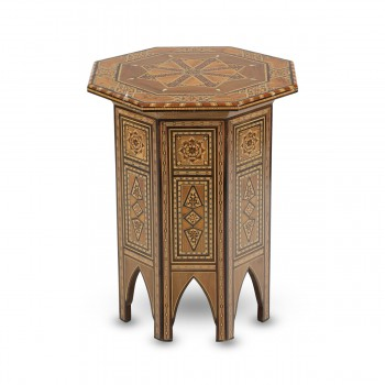Impressively-Decorated Wooden Table
