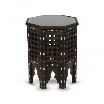Exceptional Wood with Camel Bone Table