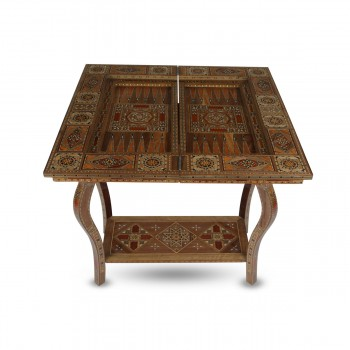 Charming Wooden Board Game Table