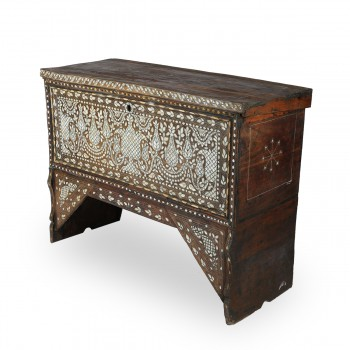 Gorgeous Syrian Design Wooden and Mother of Pearl Console