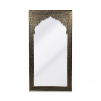 Mirror With Long Wooden Frame