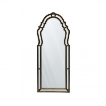 Mirror With Wood-Carved Frame