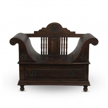 Majestic Wooden Hand-Carved Chair