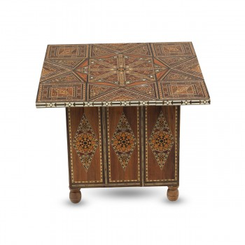 Nifty Neat Mosaic Wooden Coffee Table