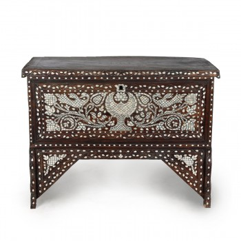 Oriental Mother of Pearl Inlaid Console