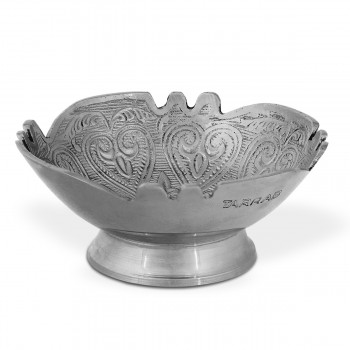 Brass Decorative Bowl With Heart And  Leaves Design